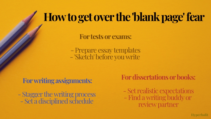 overcoming blank page writing fear tips