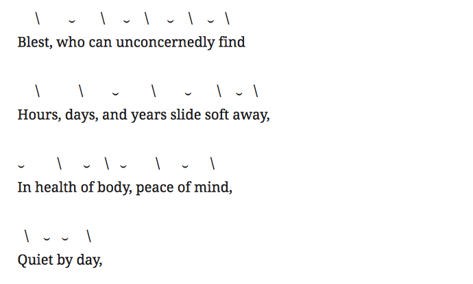 third stanza of Alexander pope's 'ode on solitude' poem