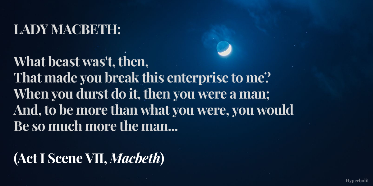 Lady Macbeth quote
