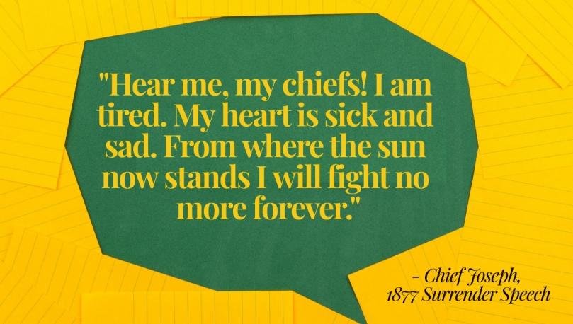 Chief Joseph quote