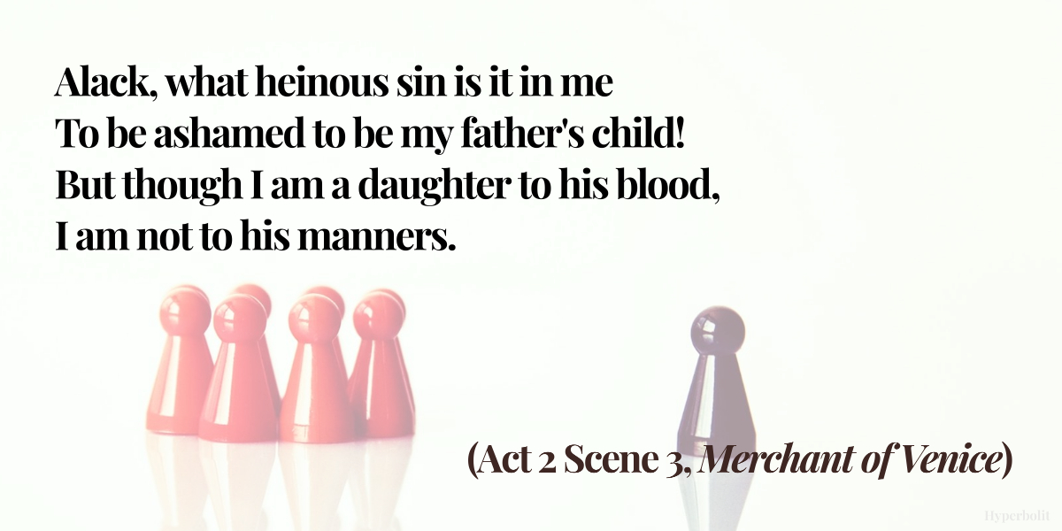 merchant of venice act 2 scene 3 quote summary analysis