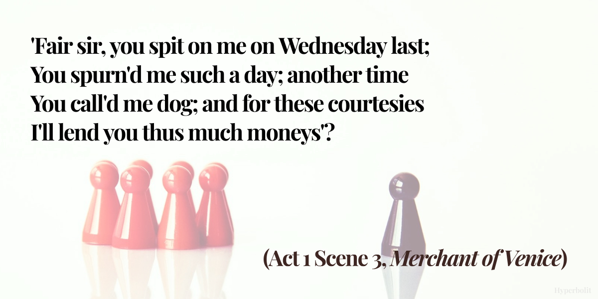 merchant of venice act 1 scene 3 quote summary analysis