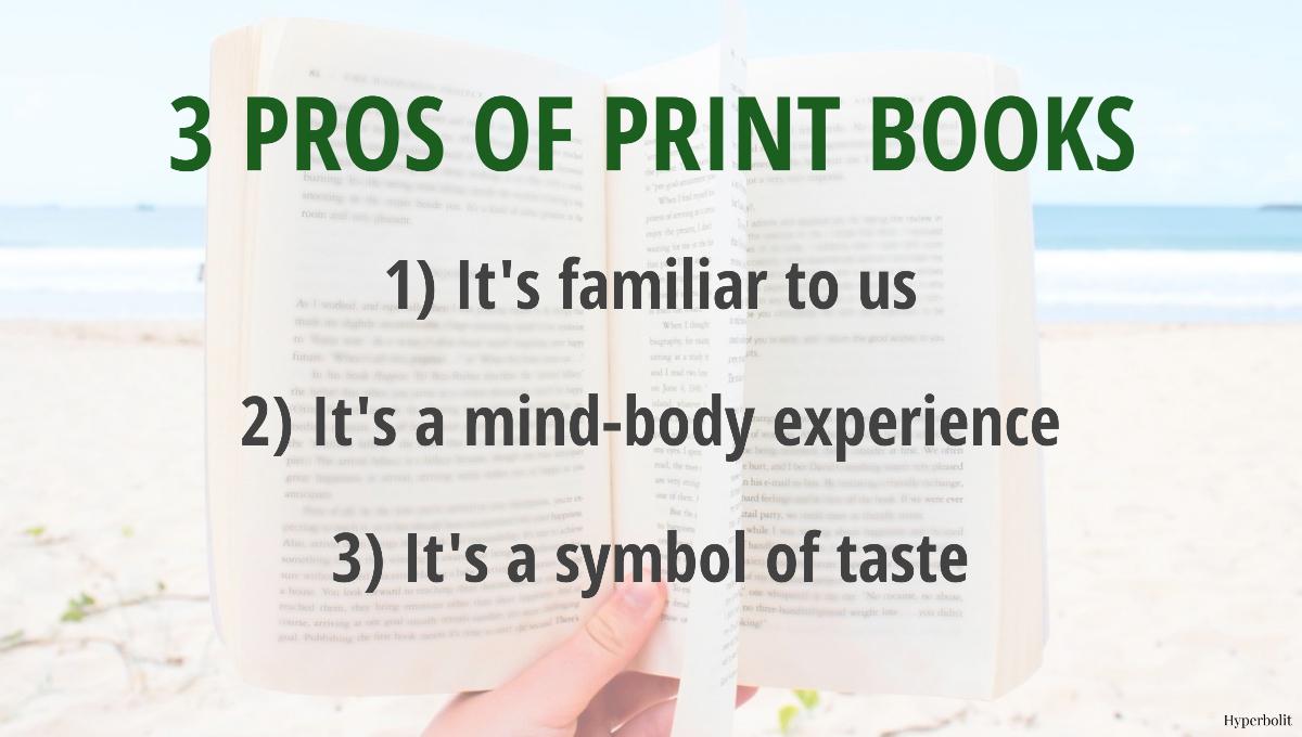 pros of print