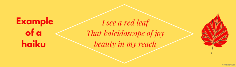 example of a haiku - diamond shape