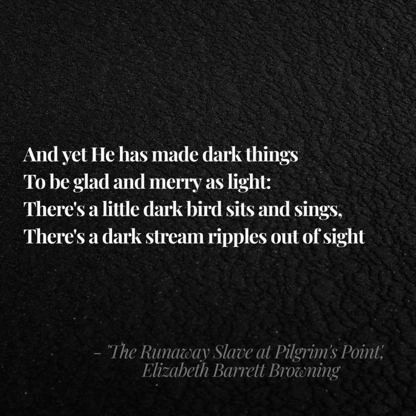 Liz Barrett Browning Runaway Slave quote