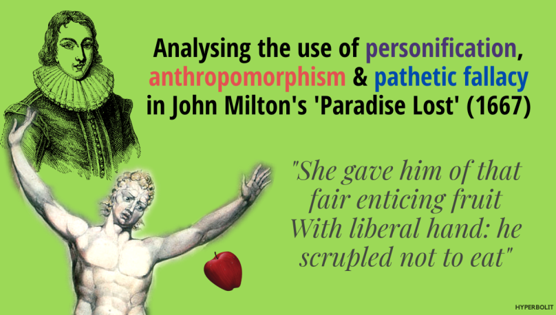 Personification, anthropomorphism, pathetic fallacy paradise lost_cover
