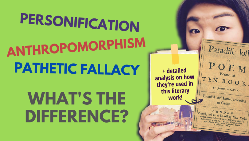 Difference between personification, anthropomorphism and pathetic fallacy