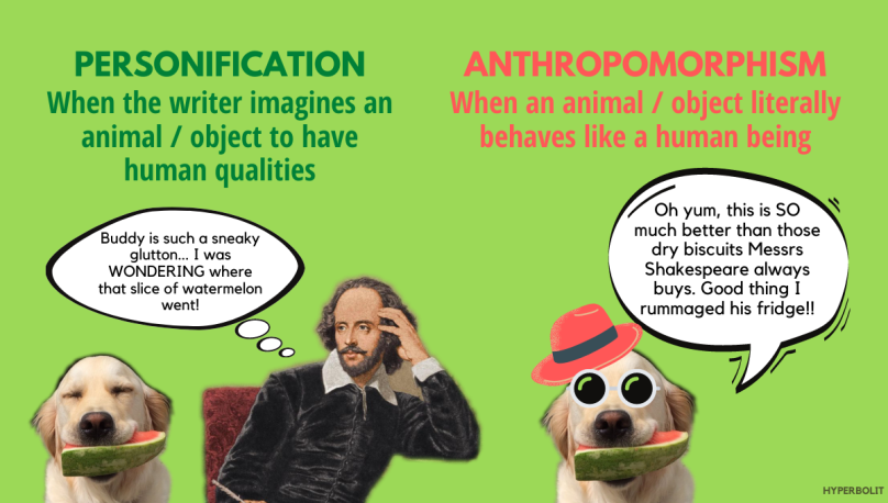 Personification vs anthropomorphism explanation