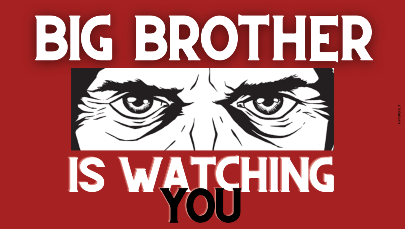 Big brother is watching you 1984 George Orwell