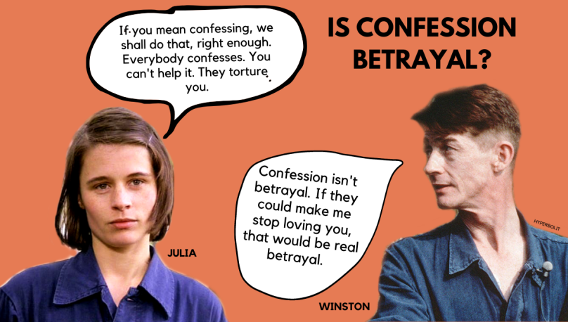 Julia winston smith 1984 confession isn't betrayal