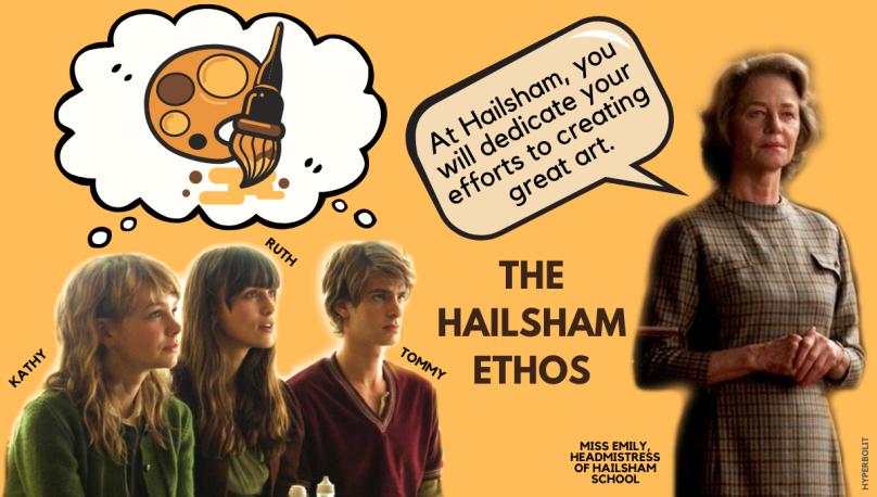 Hailsham never let me go miss Emily Kathy ruth Tommy