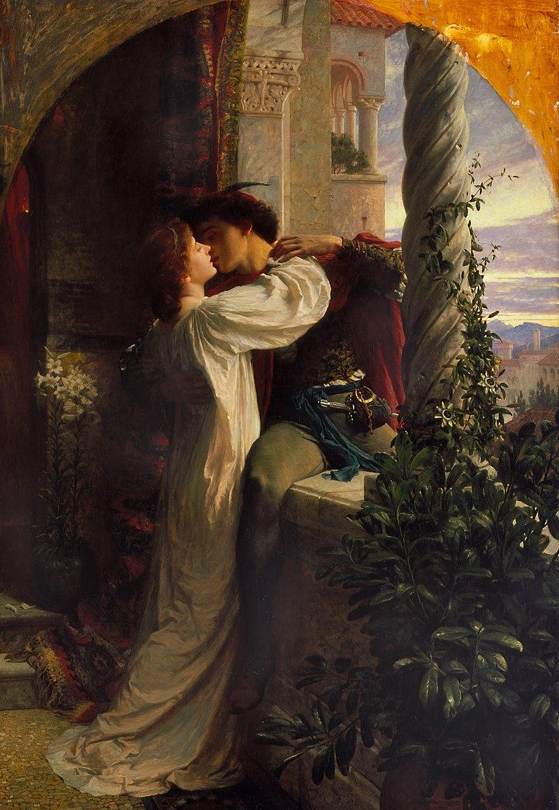 frank dicksee Romeo and Juliet pre-raphaelite art