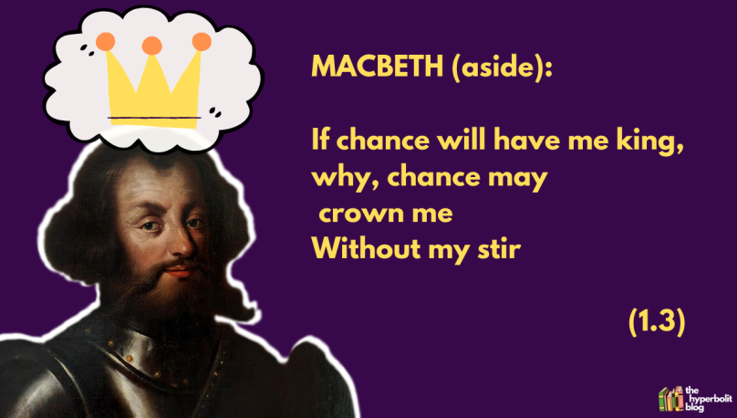 if chance will have me king, why, chance may crown me without my stir Macbeth act 1 scene 3