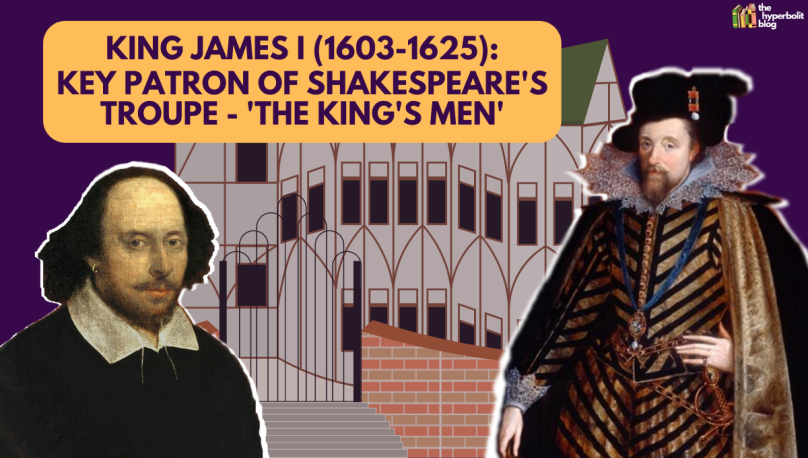 king James I patron Shakespeare king's men