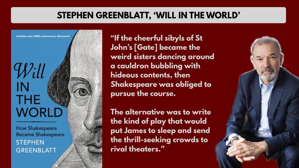 Stephen Greenblatt will in the world Macbeth quote