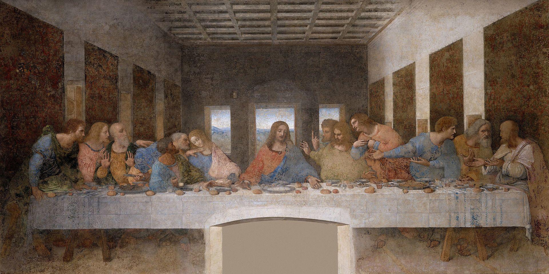 The Last Supper 1490s, Leonardo Da Vinci