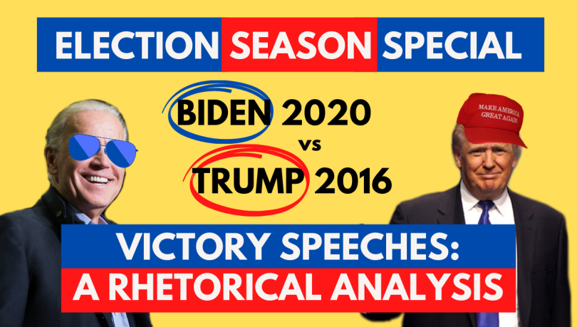 Joe biden Donald trump speech analysis election