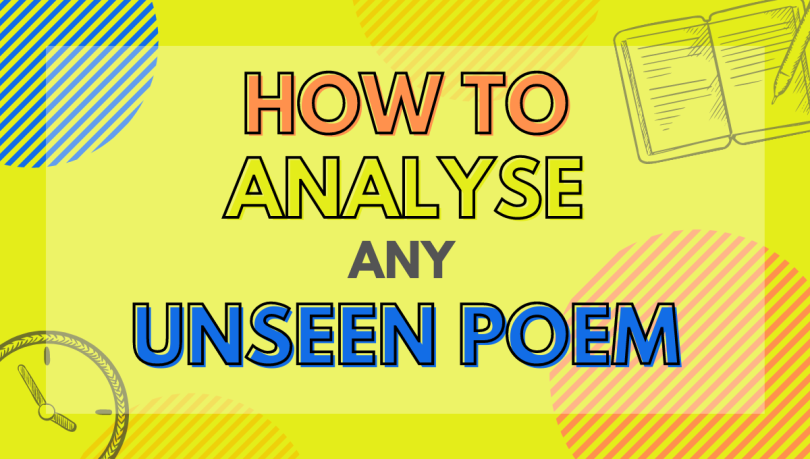 how to analyse unseen poem