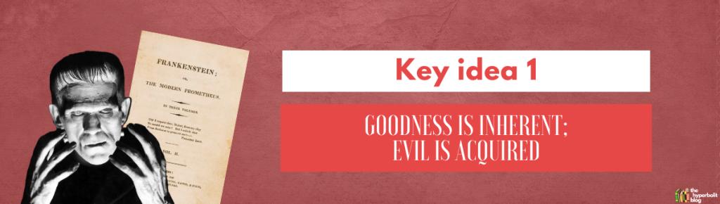Frankenstein analysis theme good versus evil